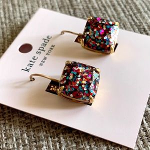 Kate spade multi glitter earrings, brand new